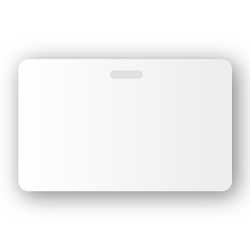 portrait slotted blank white plastic pvc id cards 500 box